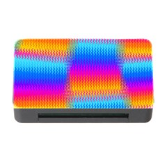 Psychedelic Rainbow Heat Waves Memory Card Reader with CF