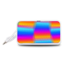 Psychedelic Rainbow Heat Waves Portable Speaker (White)