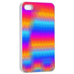 Psychedelic Rainbow Heat Waves Apple iPhone 4/4s Seamless Case (White)