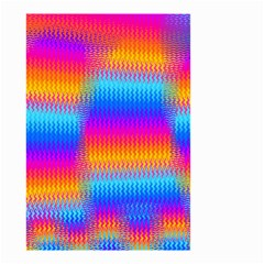 Psychedelic Rainbow Heat Waves Small Garden Flag (Two Sides)