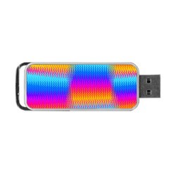 Psychedelic Rainbow Heat Waves Portable Usb Flash (one Side)