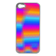 Psychedelic Rainbow Heat Waves Apple Iphone 5 Case (silver)