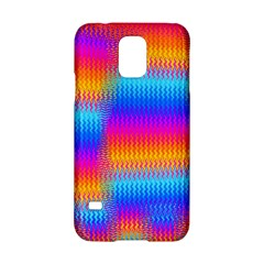Psychedelic Rainbow Heat Waves Samsung Galaxy S5 Hardshell Case