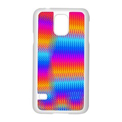 Psychedelic Rainbow Heat Waves Samsung Galaxy S5 Case (White)