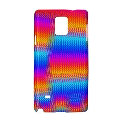 Psychedelic Rainbow Heat Waves Samsung Galaxy Note 4 Hardshell Case