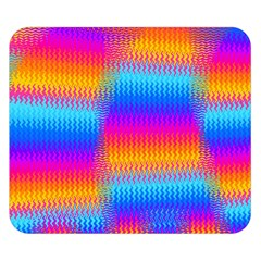 Psychedelic Rainbow Heat Waves Double Sided Flano Blanket (Small)