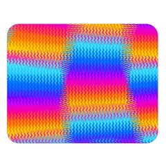 Psychedelic Rainbow Heat Waves Double Sided Flano Blanket (Large)