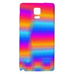 Psychedelic Rainbow Heat Waves Galaxy Note 4 Back Case
