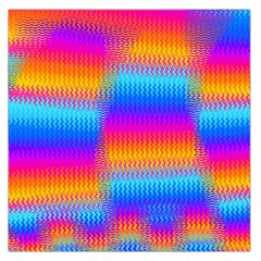 Psychedelic Rainbow Heat Waves Large Satin Scarf (Square)