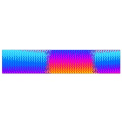 Psychedelic Rainbow Heat Waves Flano Scarf (Small)