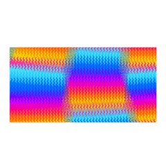 Psychedelic Rainbow Heat Waves Satin Wrap