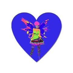 Fairy Punk Heart Magnet