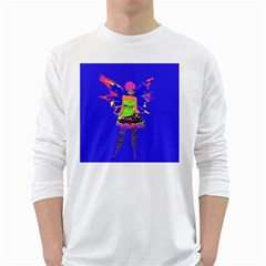 Fairy Punk White Long Sleeve T-Shirts