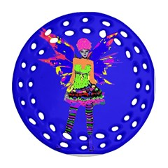 Fairy Punk Round Filigree Ornament (2Side)