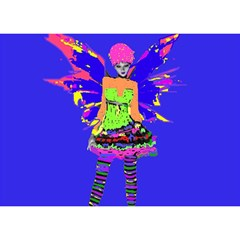 Fairy Punk Birthday Cake 3D Greeting Card (7x5)