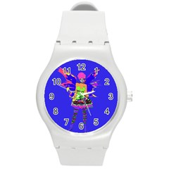 Fairy Punk Round Plastic Sport Watch (m)