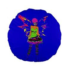 Fairy Punk Standard 15  Premium Flano Round Cushions