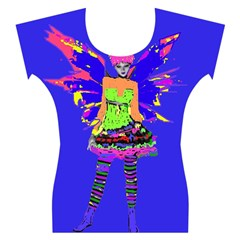 Fairy Punk Women s Cap Sleeve Top