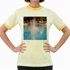 Splash 3 Women s Fitted Ringer T-Shirts