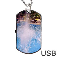Splash 3 Dog Tag Usb Flash (one Side)