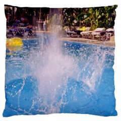 Splash 3 Large Flano Cushion Cases (One Side)