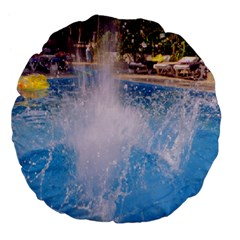 Splash 3 Large 18  Premium Flano Round Cushions