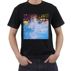 Splash 4 Men s T-Shirt (Black) (Two Sided)