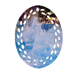 Splash 4 Oval Filigree Ornament (2-Side)