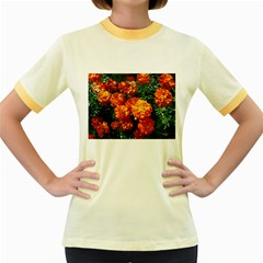 Tagetes Women s Fitted Ringer T-Shirts