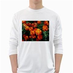 Tagetes White Long Sleeve T-Shirts