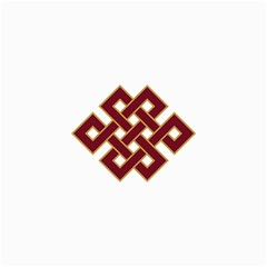 Buddhist Endless Knot Auspicious Symbol Collage 12  x 18