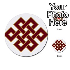 Buddhist Endless Knot Auspicious Symbol Multi Purpose Cards (round)