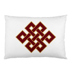 Buddhist Endless Knot Auspicious Symbol Pillow Case