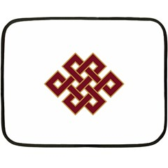 Buddhist Endless Knot Auspicious Symbol Fleece Blanket (Mini)