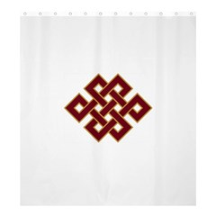 Buddhist Endless Knot Auspicious Symbol Shower Curtain 66  x 72  (Large)
