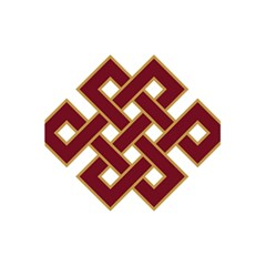 Buddhist Endless Knot Auspicious Symbol 5 5  X 8 5  Notebook