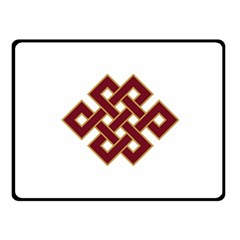 Buddhist Endless Knot Auspicious Symbol Fleece Blanket (small)