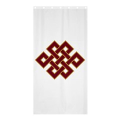 Buddhist Endless Knot Auspicious Symbol Shower Curtain 36  X 72  (stall)