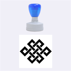 Buddhist Endless Knot Auspicious Symbol Rubber Stamp Round (Medium)