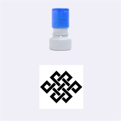 Buddhist Endless Knot Auspicious Symbol Rubber Stamp Round (Small)
