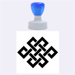 Buddhist Endless Knot Auspicious Symbol Rubber Stamp Round (large)