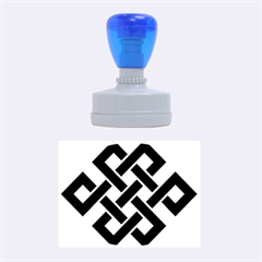 Buddhist Endless Knot Auspicious Symbol Rubber Stamp Oval