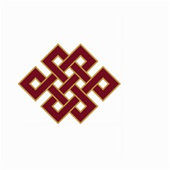 Buddhist Endless Knot Auspicious Symbol Large Garden Flag (Two Sides)