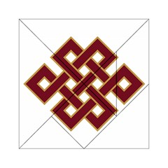 Buddhist Endless Knot Auspicious Symbol Acrylic Tangram Puzzle (6  x 6 )