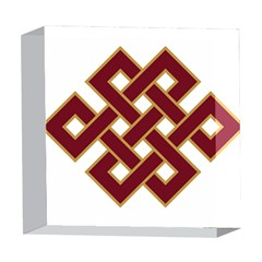 Buddhist Endless Knot Auspicious Symbol 5  x 5  Acrylic Photo Block
