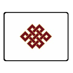 Buddhist Endless Knot Auspicious Symbol Double Sided Fleece Blanket (small)