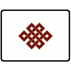 Buddhist Endless Knot Auspicious Symbol Double Sided Fleece Blanket (Large)