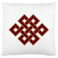 Buddhist Endless Knot Auspicious Symbol Standard Flano Cushion Case (Two Sides)