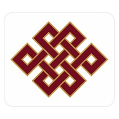 Buddhist Endless Knot Auspicious Symbol Double Sided Flano Blanket (Small)
