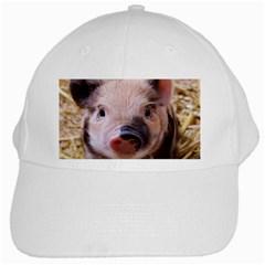 Sweet Piglet White Cap